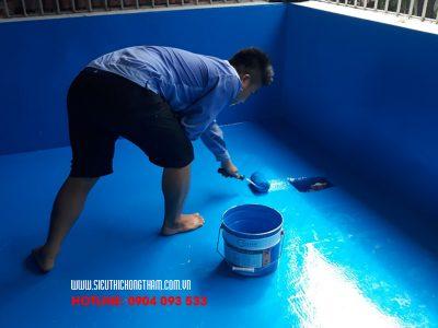 cách chống thấm bể bơi bằng pu 2 k w đơn giản hiệu quả