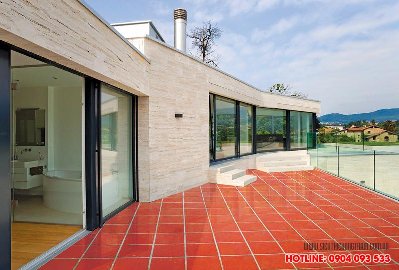 quy trình chống thấm sàn mái gạch đỏ