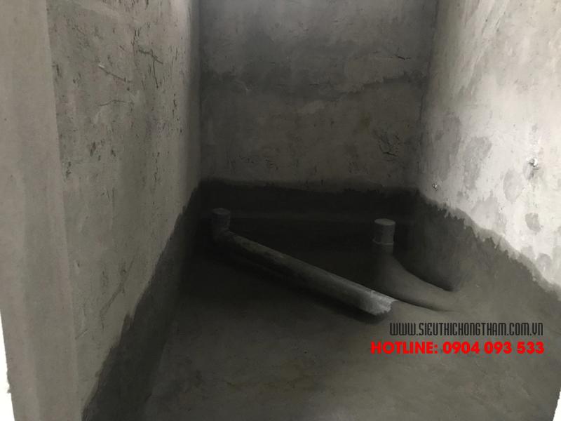 2 hạng mục cần chống thấm là chân tường và sàn vệ sinh