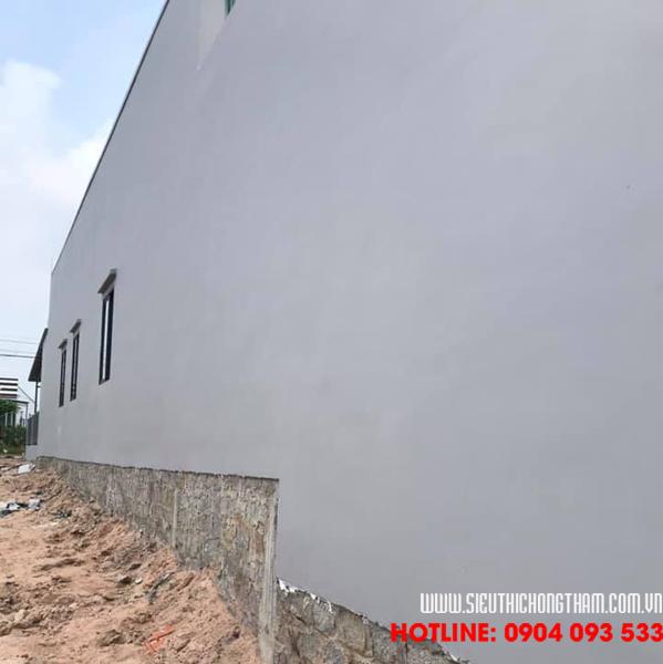 sau khi hoàn thiện chống thấm tường ngoài nhà