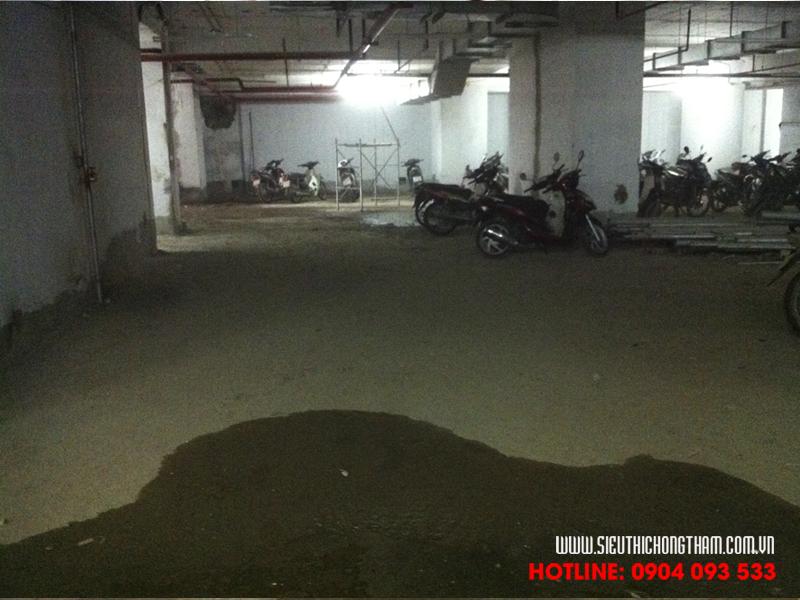 tầng hầm bị thấm chỉ sau khi công trình đi vào sử dụng