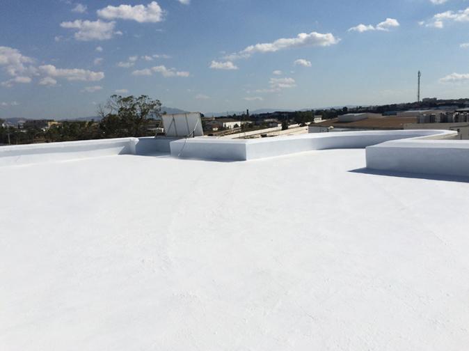 quy trình chống thấm mái lộ thiên dùng Revinex Roof