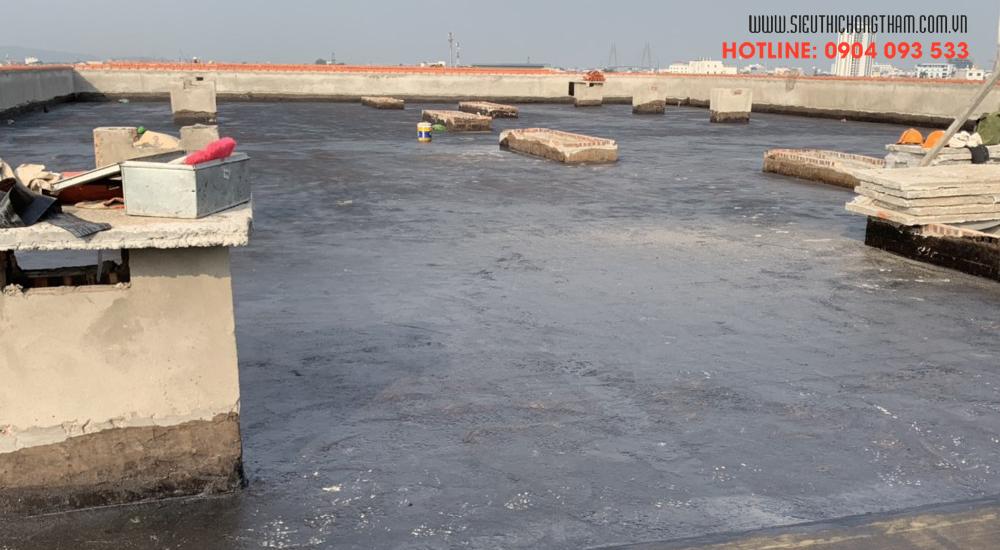 dự án chống thấm sàn mái bằng màng khò lemax