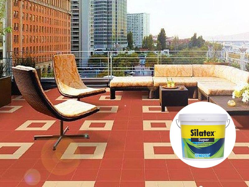 quy trình chống thấm sàn mái gạch đỏ sử dụng silatex super kinh tế hiệu quả