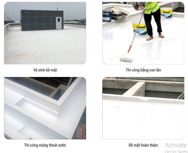 các bước chống thấm và chống nóng sàn mái gạch đỏ bằng Neoroof