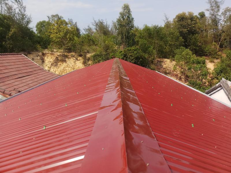 quy trình chống thấm mái tôn bằng neoproof pu w