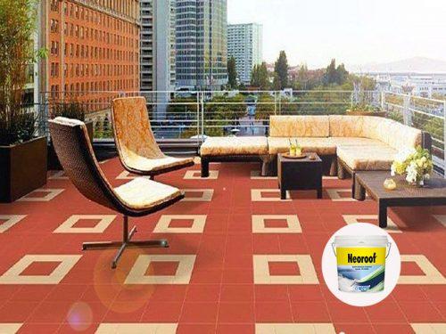 quy trình chống thấm sàn mái gạch đỏ bằng neoroof