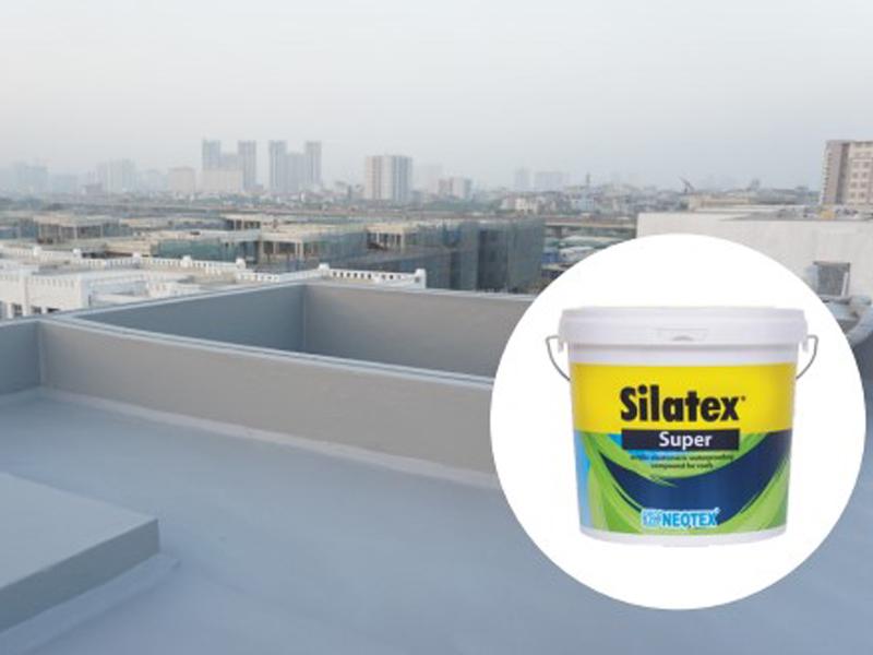 quy trình chống thấm sàn mái lộ thiên dùng silatex super