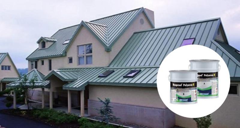 quy trình chống thấm sàn mái tôn sử dụng Neoproof polyurea R