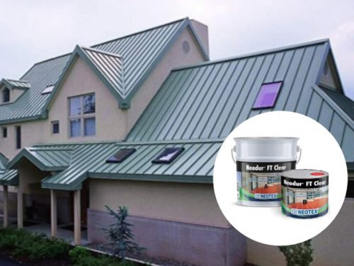 quy trình chống thấm sàn mái tôn sử dụng Neodur FT Clear